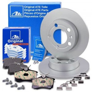 Brake discs pads rear solid